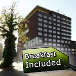 Luxury 4-star hotel located in a walking distance from city center of Groningen. Air/conditioned comfortable rooms dispose with private bathroom, LCD TV, phone. Free wifi is available in public areas.   66,8 km European Dog Show 2011, located only 149 € EUR.